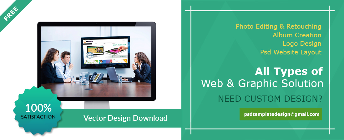 Free Website Psd Template Download - Free HTML Webiste Template - Free Vector Template Download