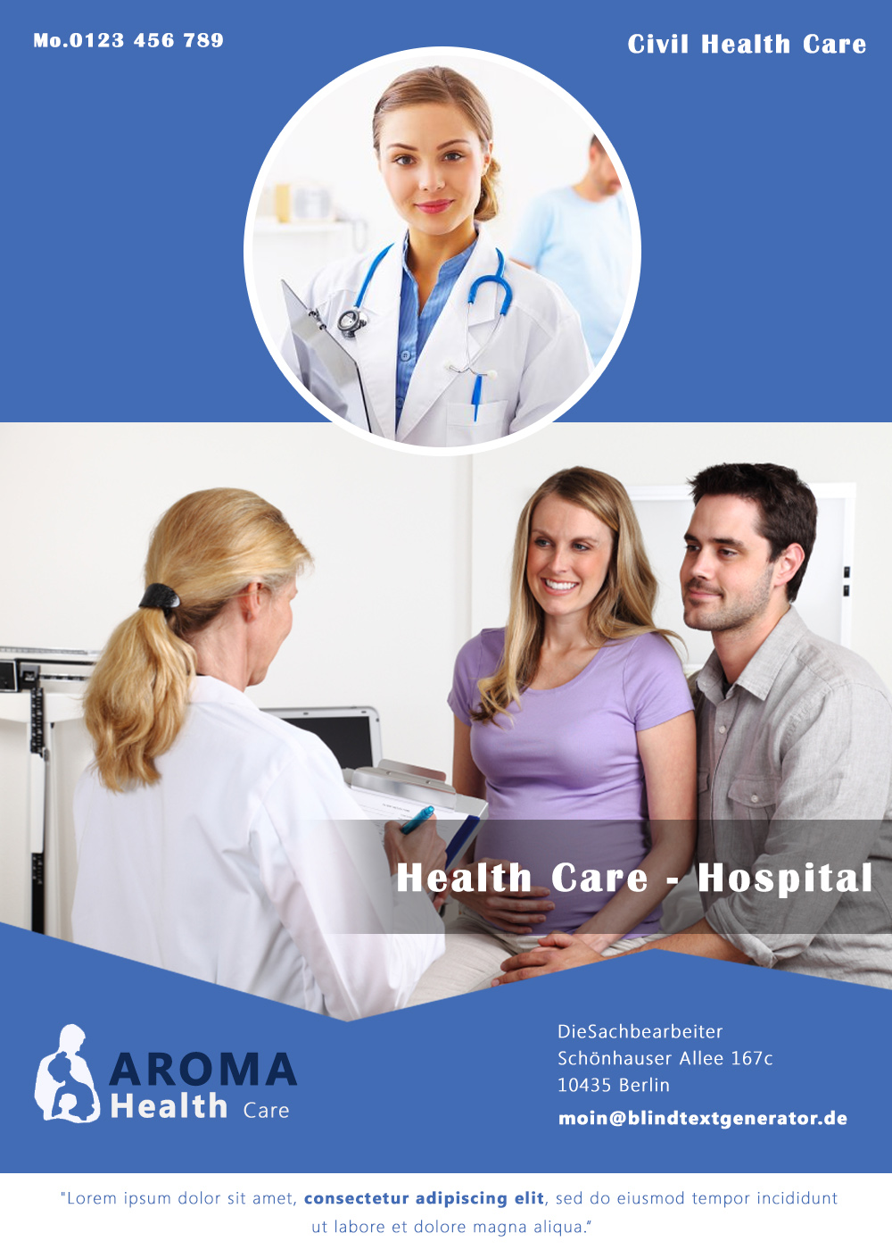 free hospital brochure template – Hospital Flyer Template