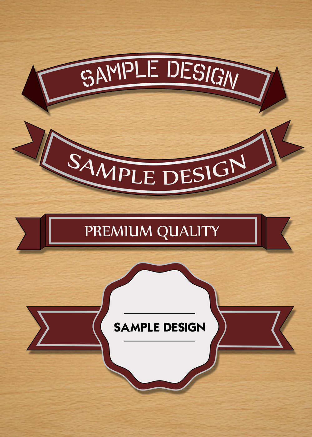 badge and ribbon vector
