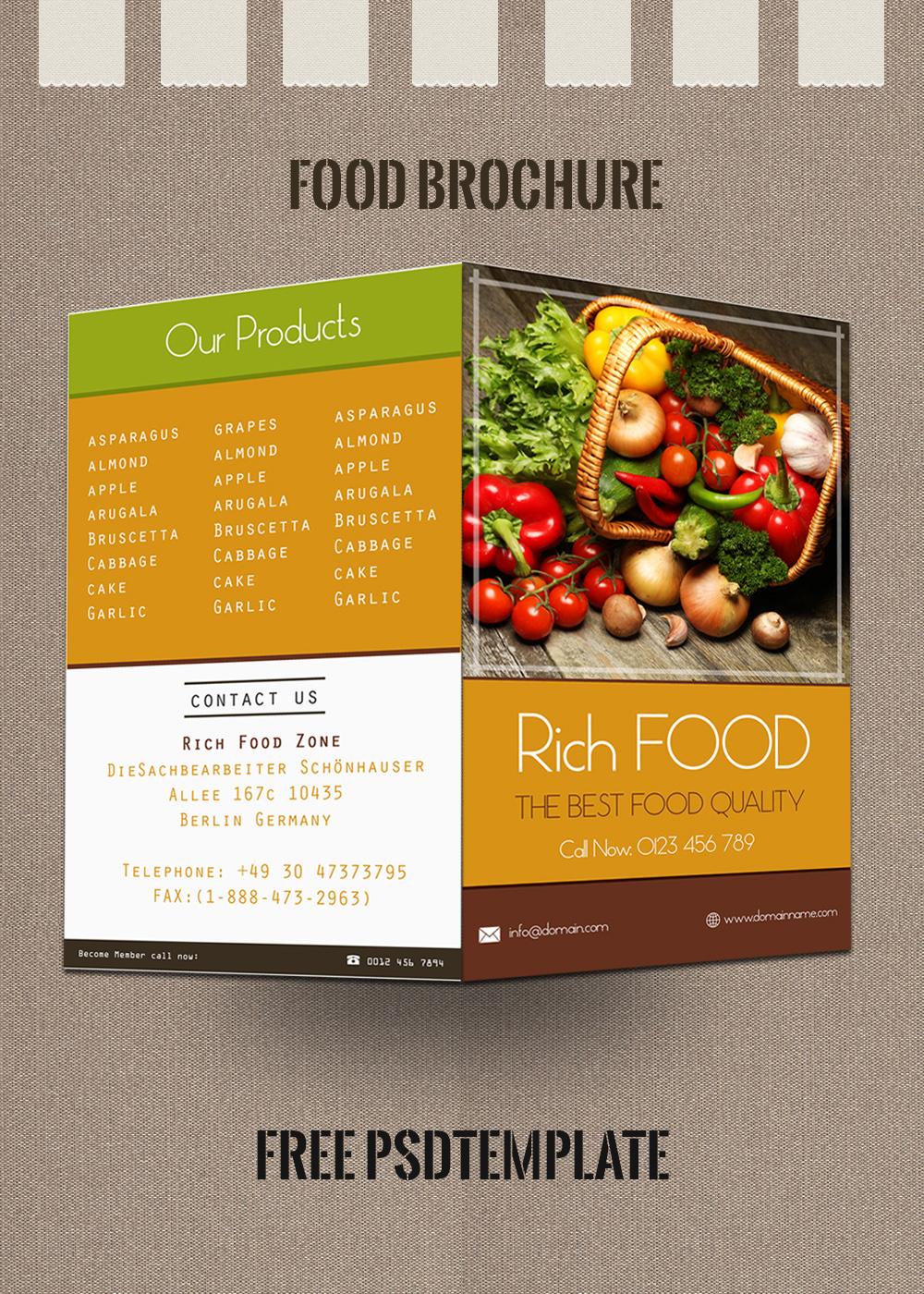 brochure food
