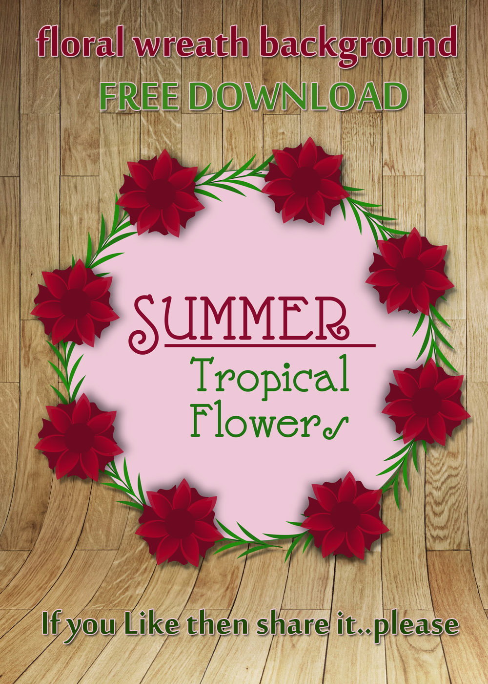 floral wreath background