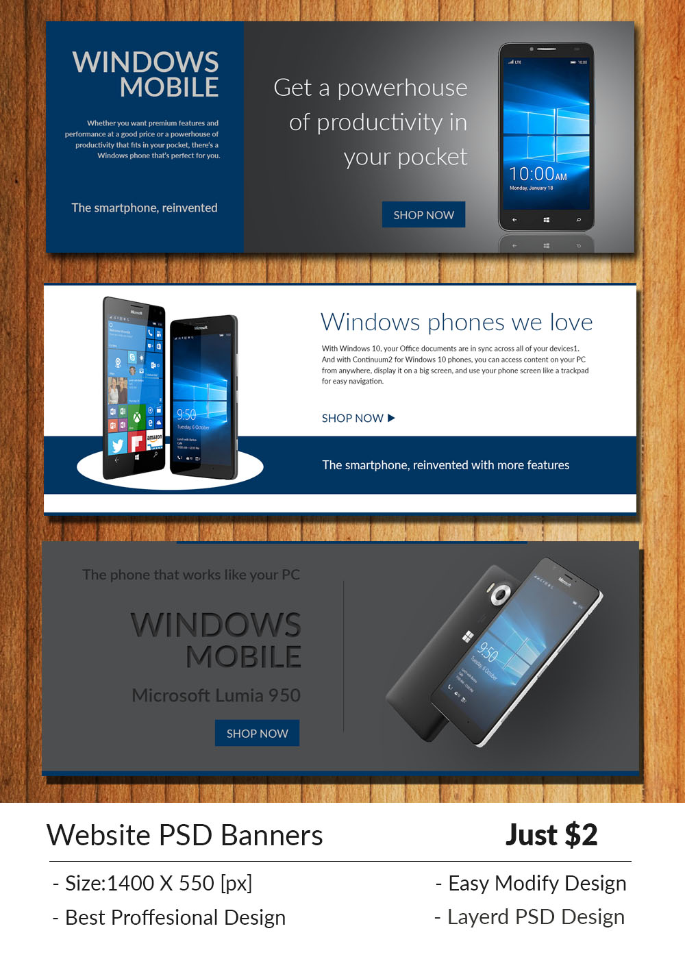 website psd banners