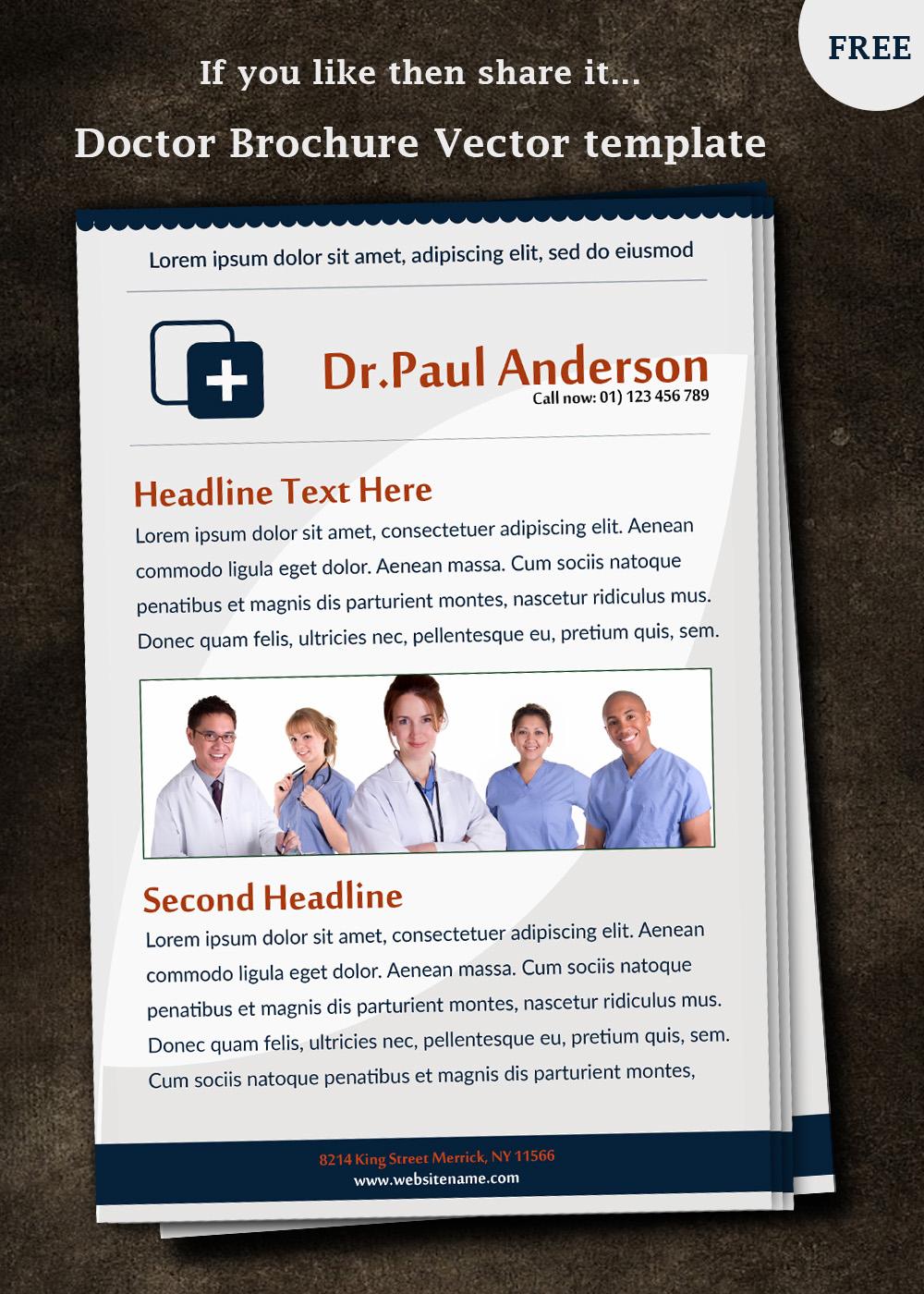 free doctor brochure template. Black Bedroom Furniture Sets. Home Design Ideas