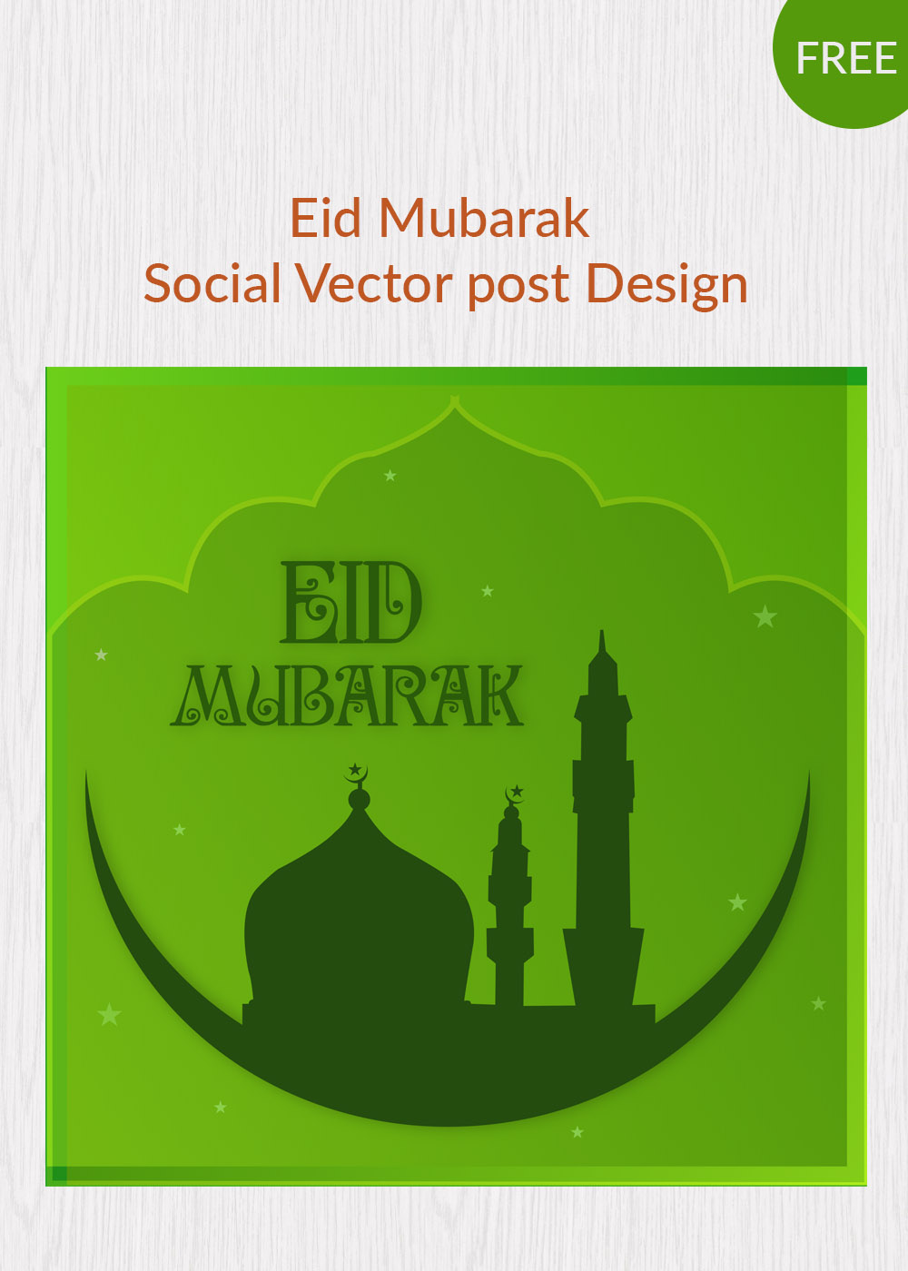 Free Psd Template  Eid Card Templates