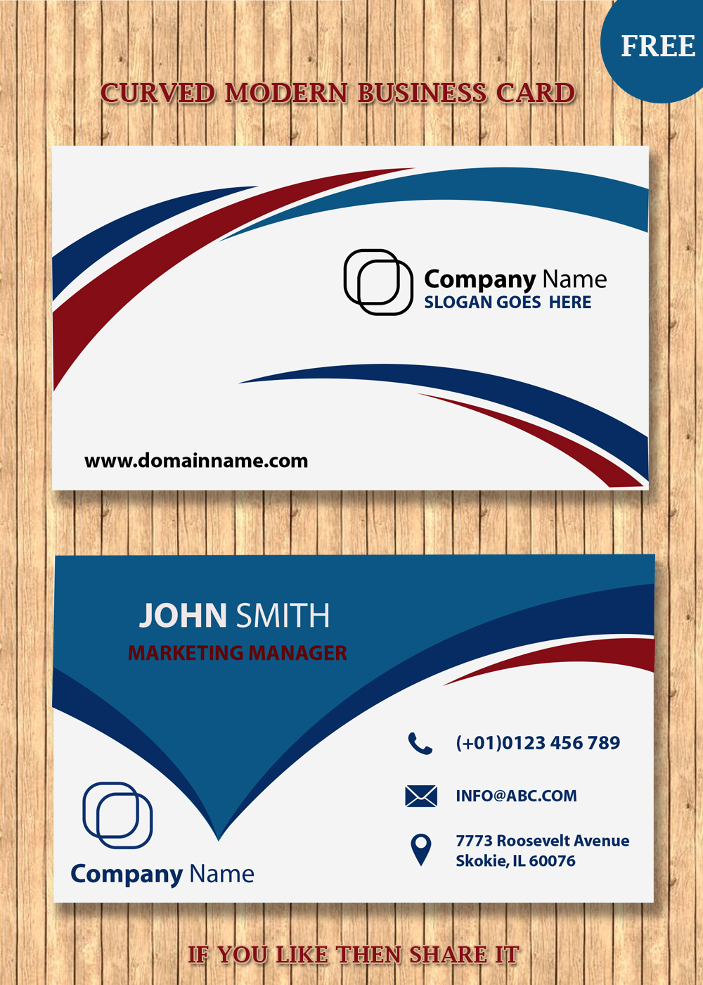 Modern business card templates for Free modern business card templates