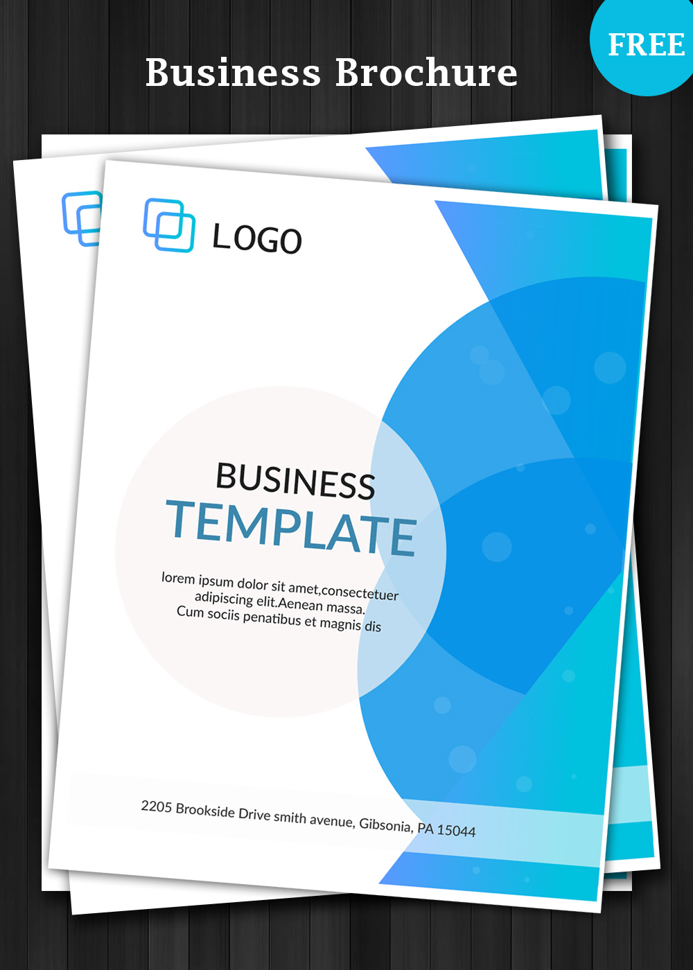 Business brochure template for Company brochure template free download