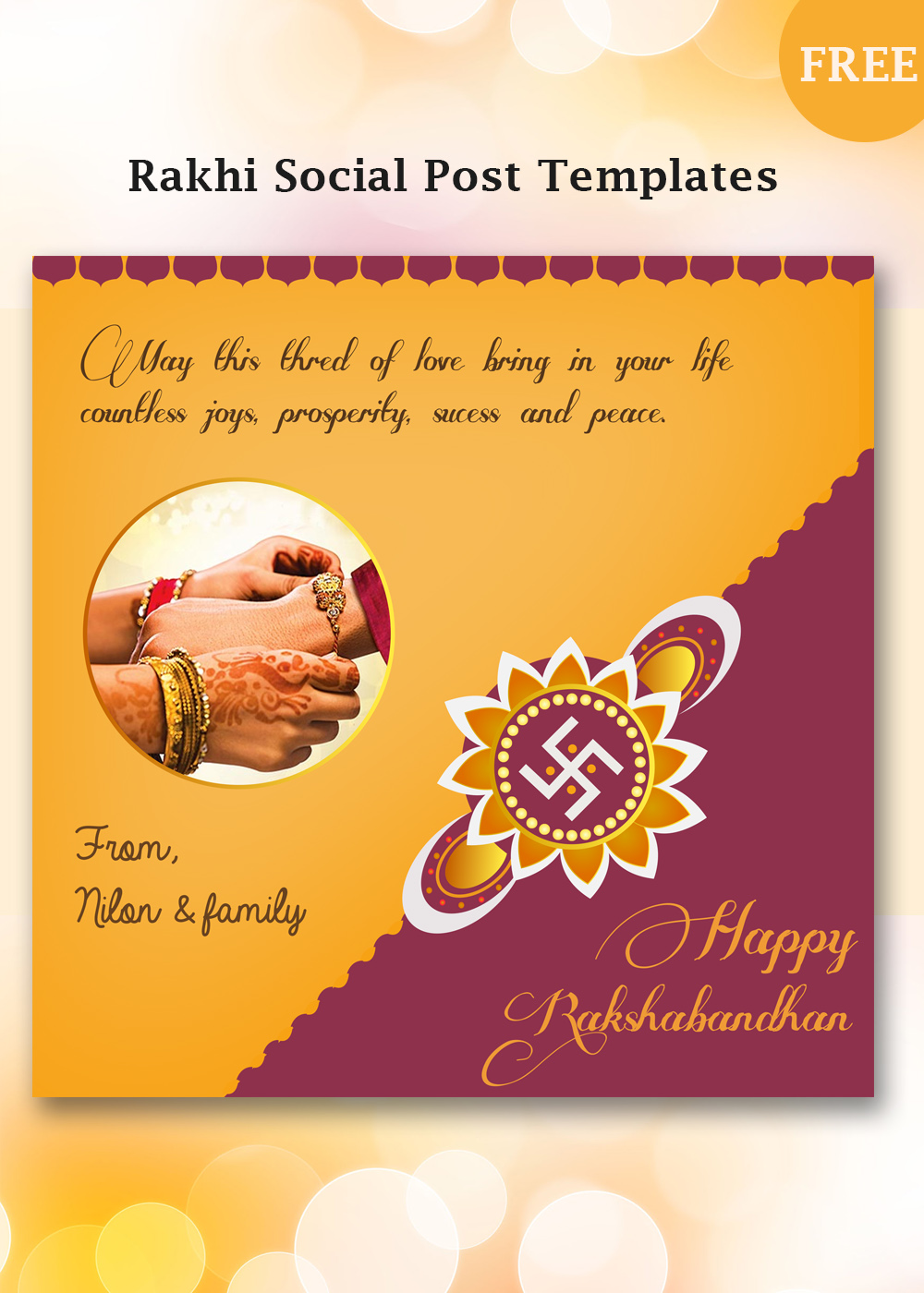 rakhi post templates