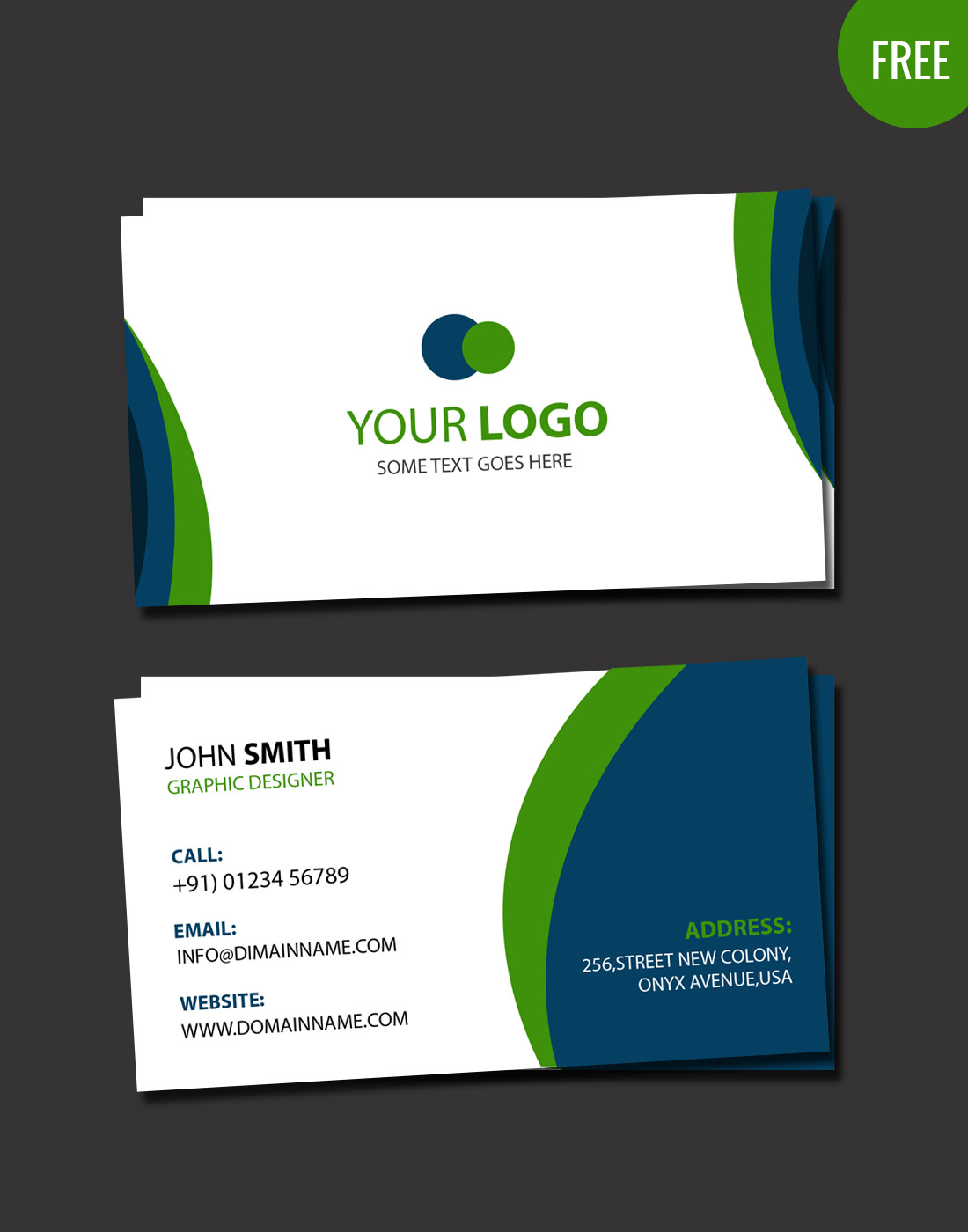 Business card psd for Business card photoshop template psd