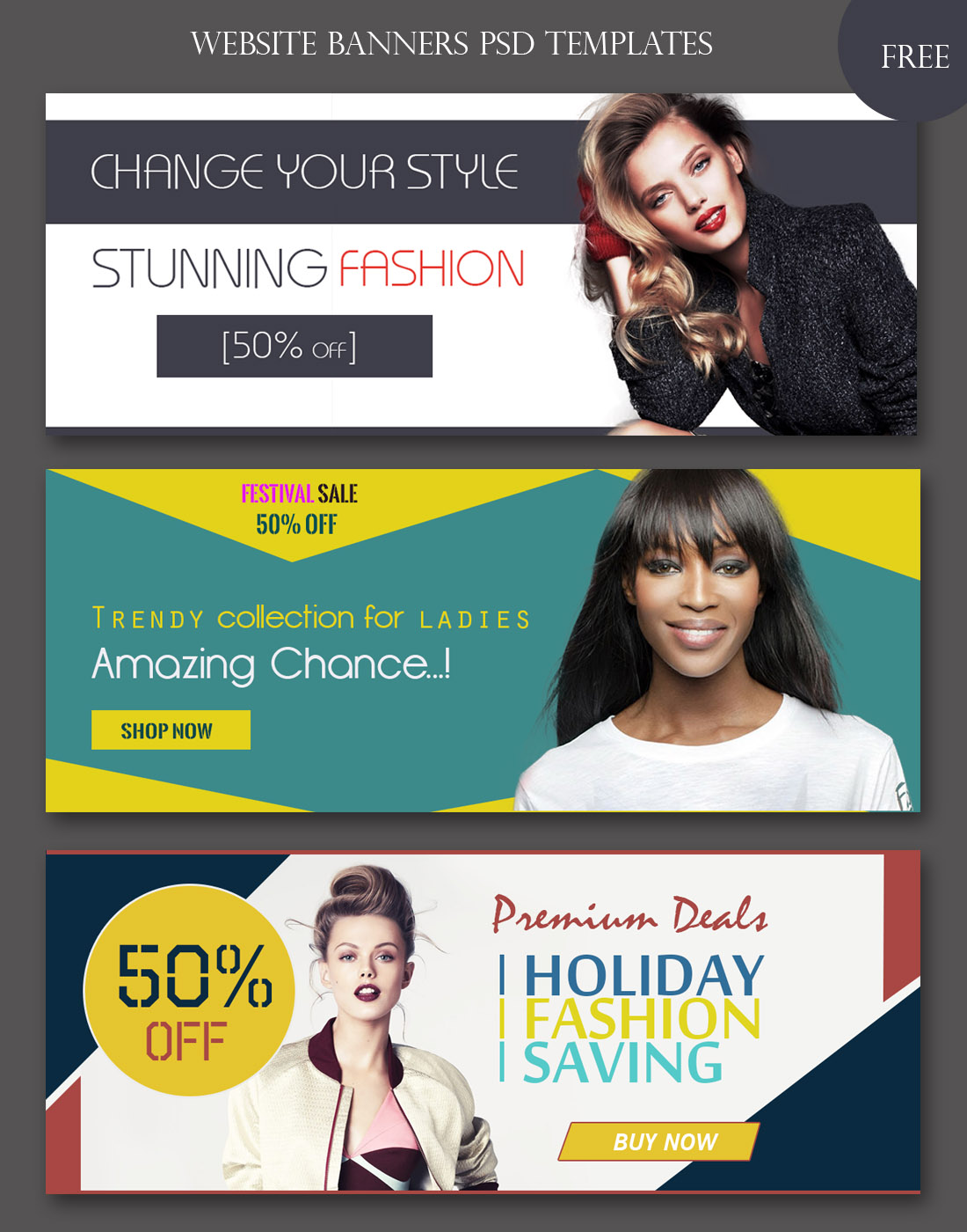 banners psd templates