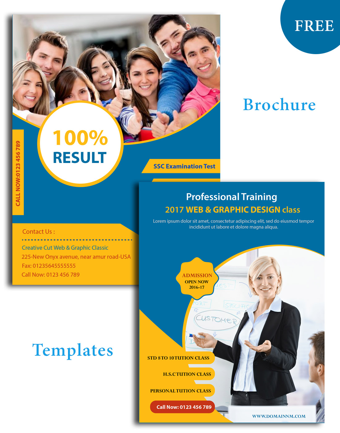 Education Psd Brochure Templates