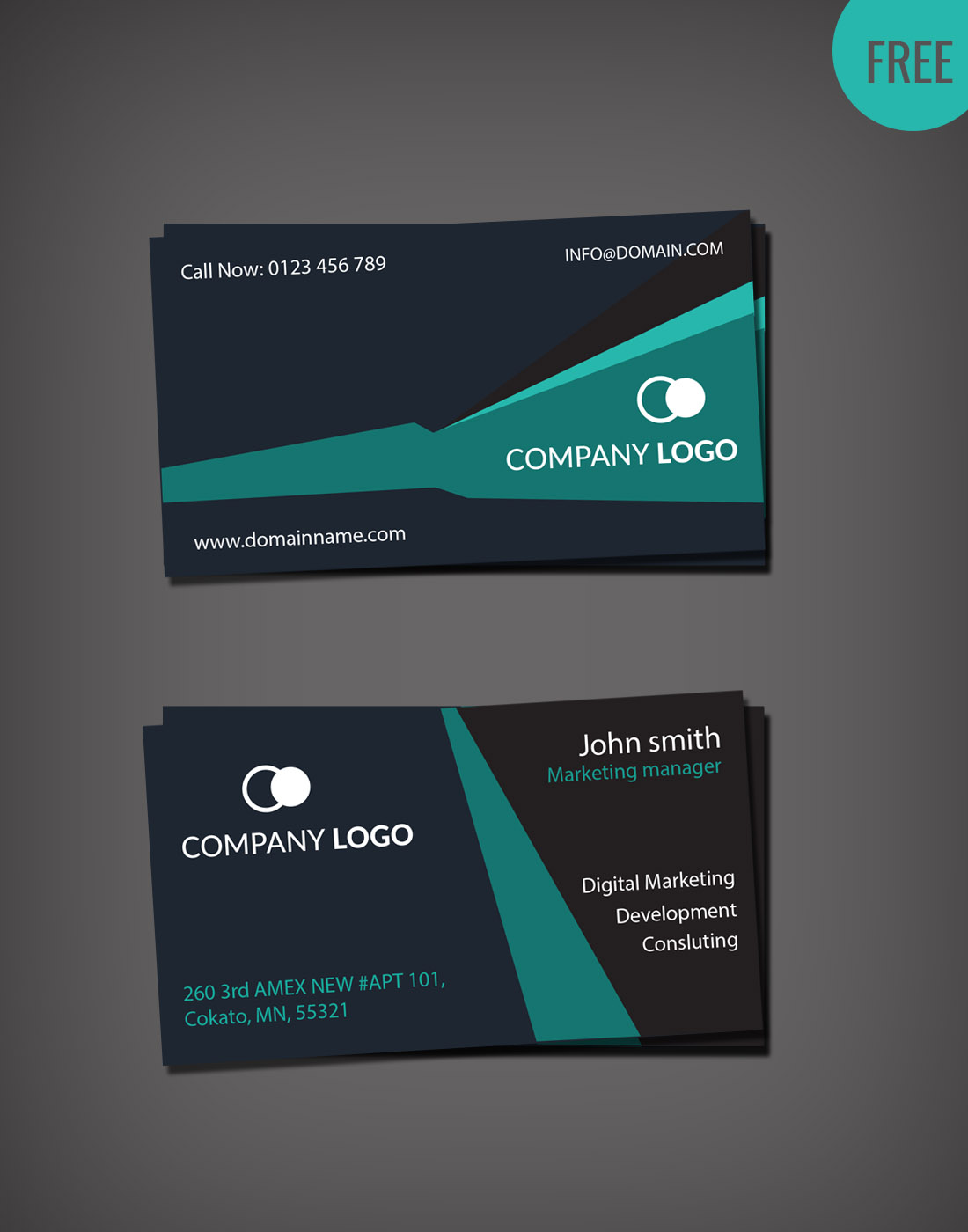 Business card psd template wajeb Image collections