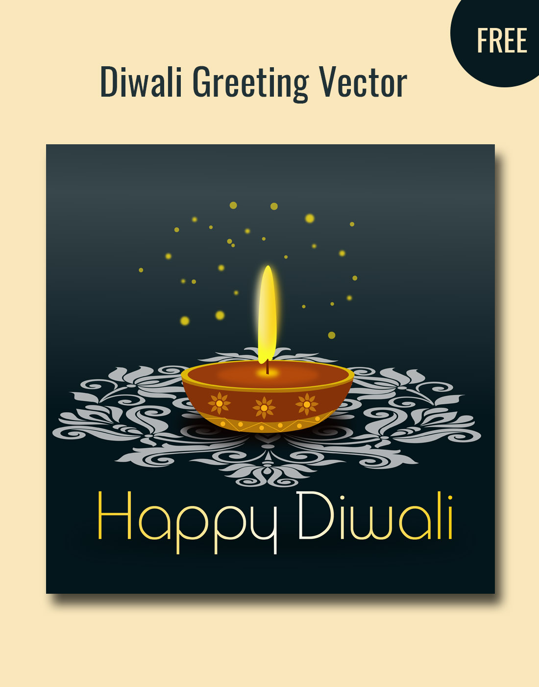 diwali greeting vector