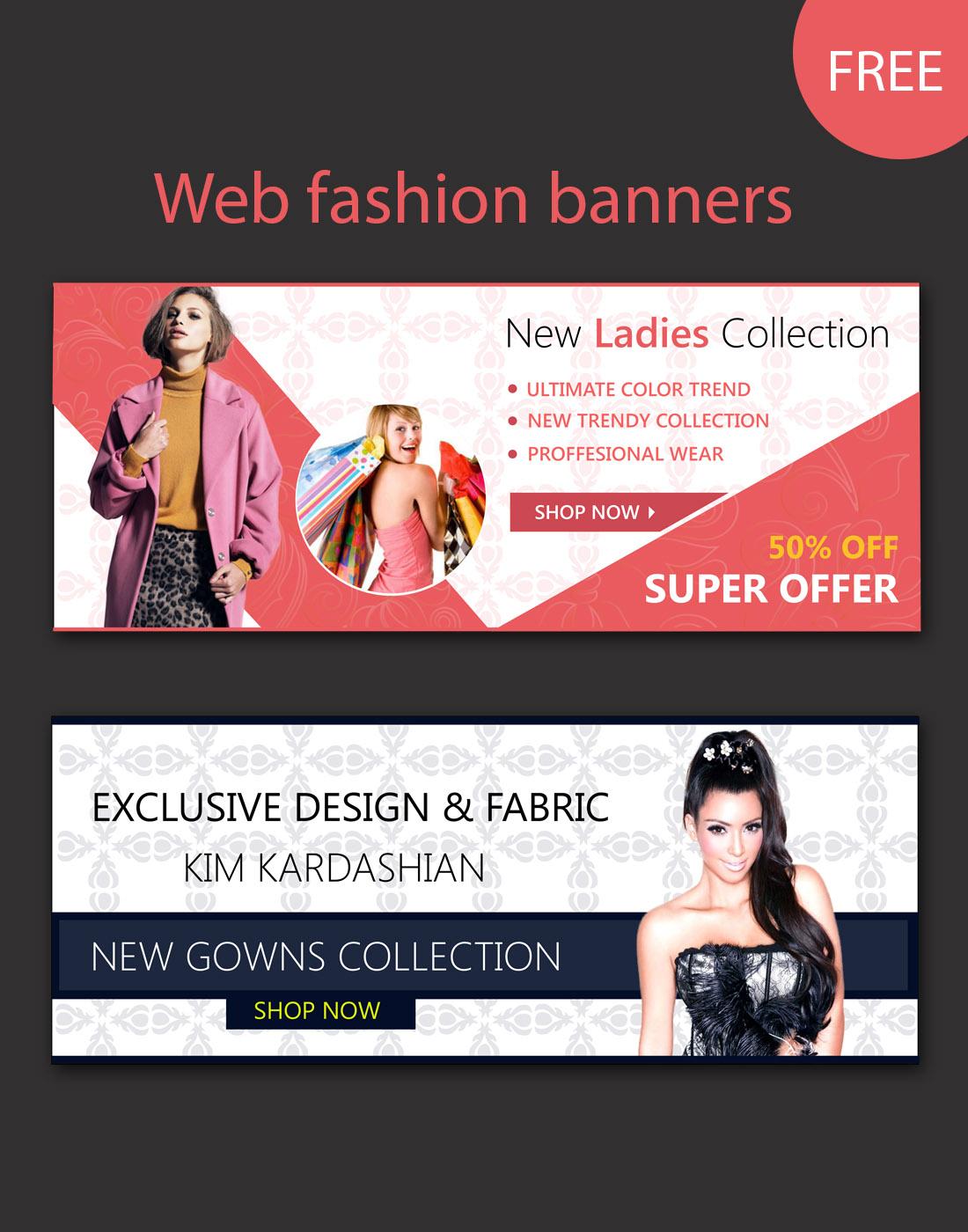 kim kardashian website banners