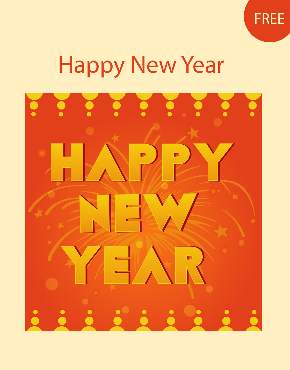 new year vector template
