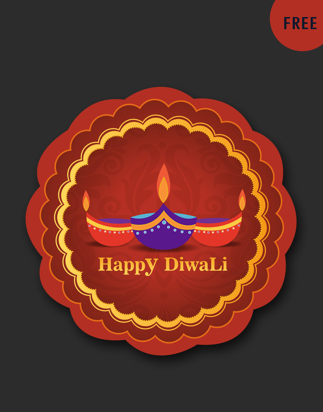 diwali badge