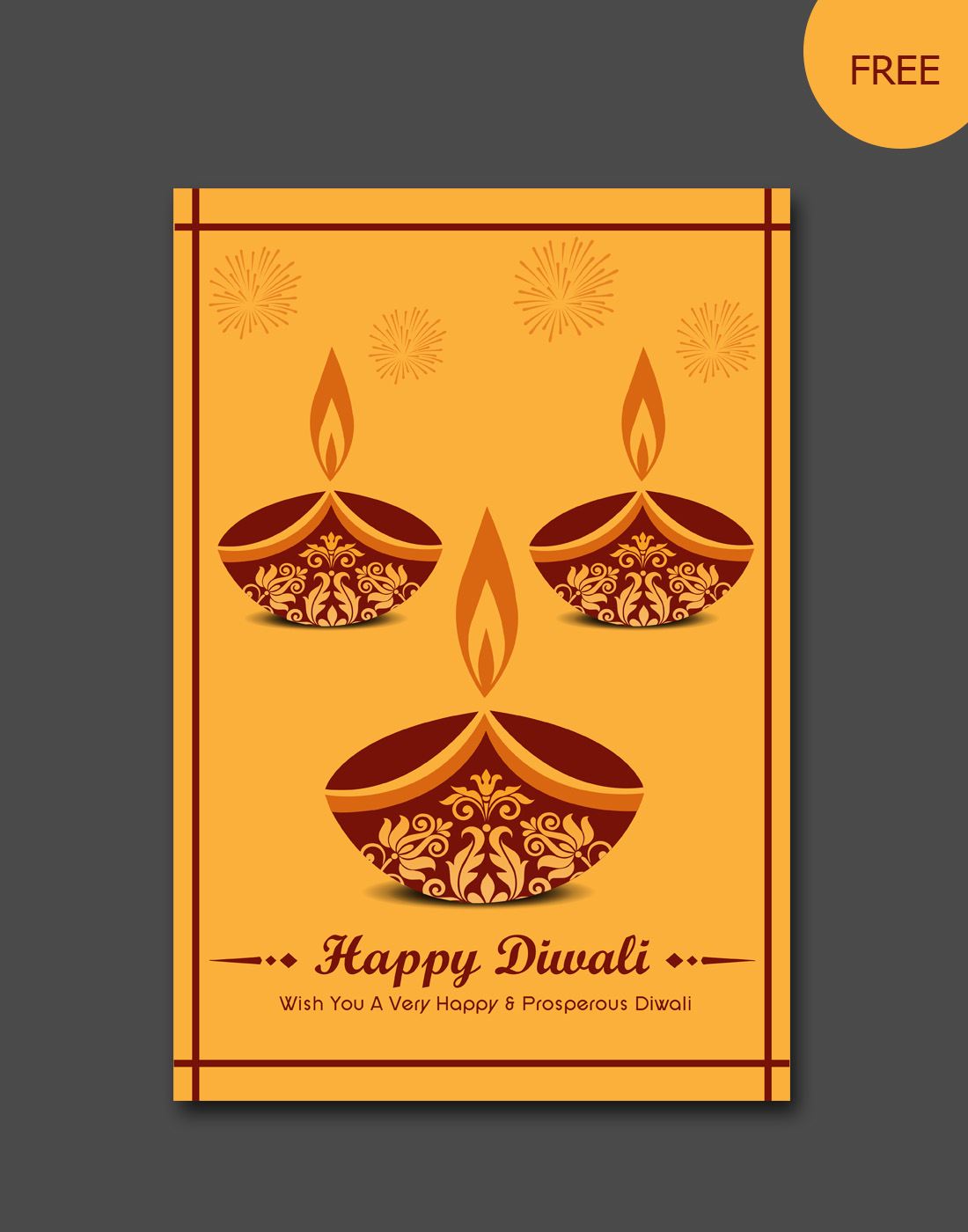 Diwali Vector Card Templates