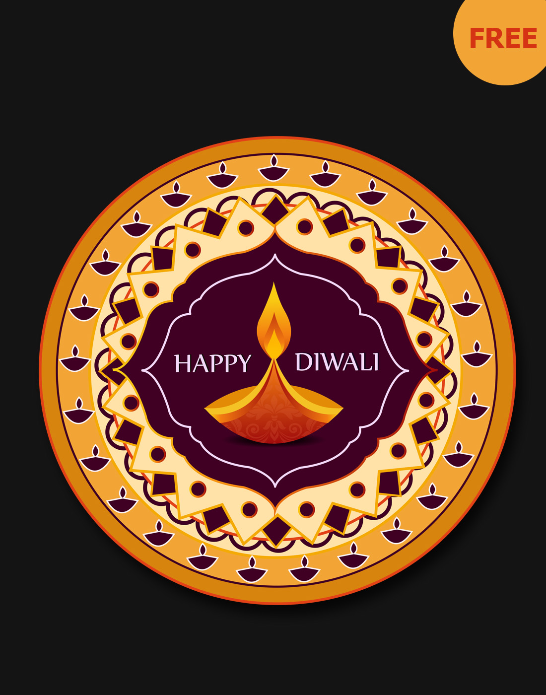 free diwali graphic