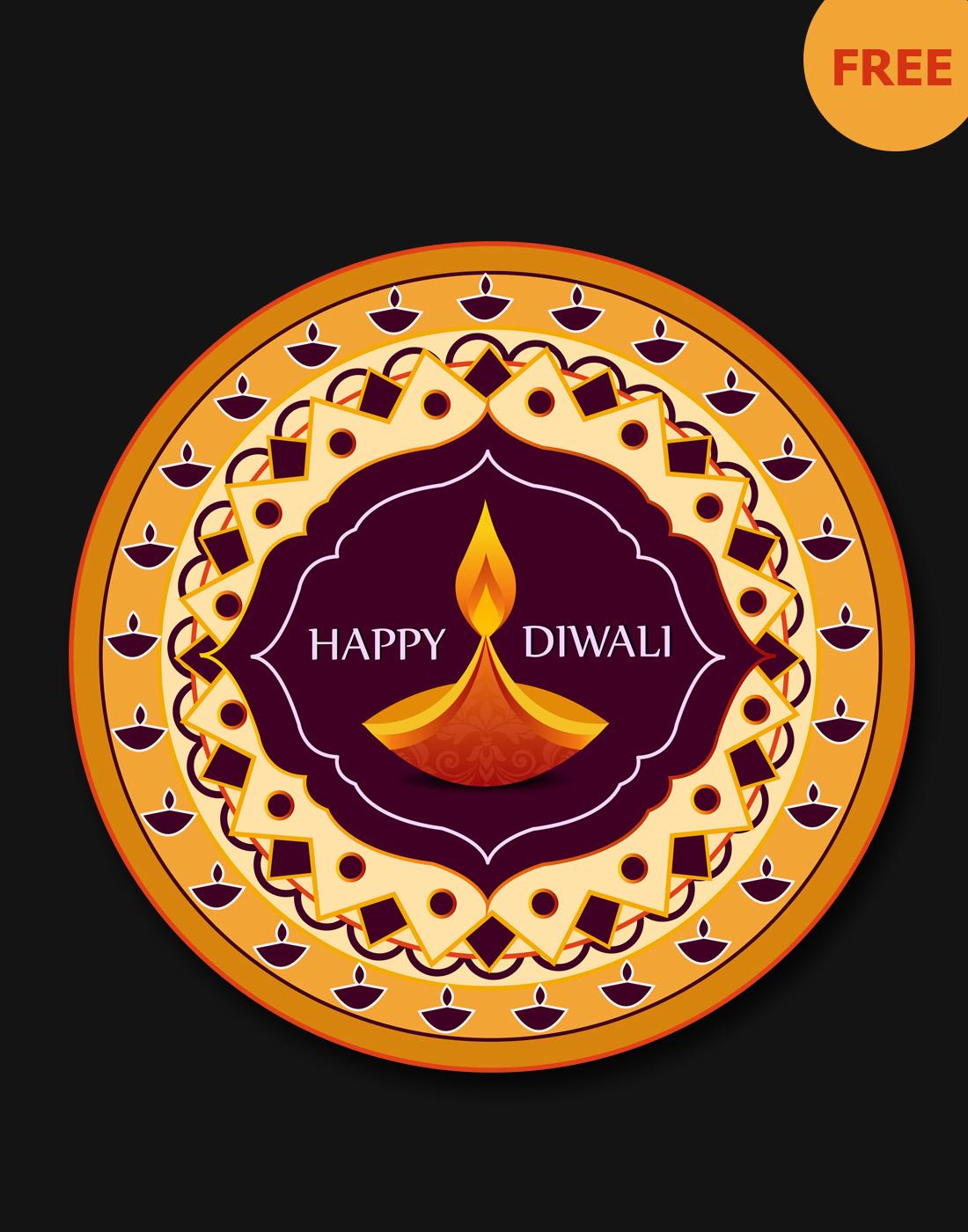 free diwali graphic