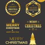 Christmas gold logo templates