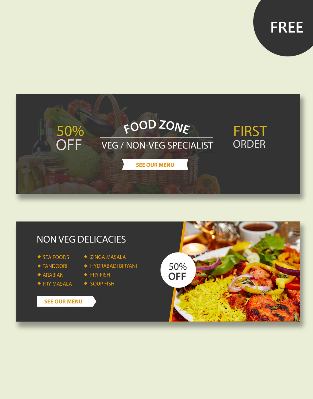 FOOD BANNERS PSD TEMPLATES