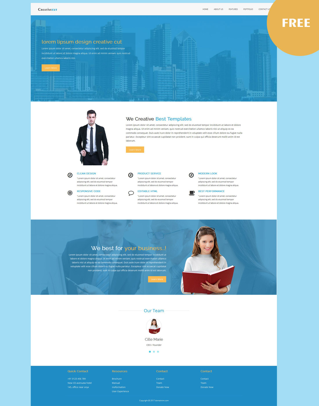 responsive business templates