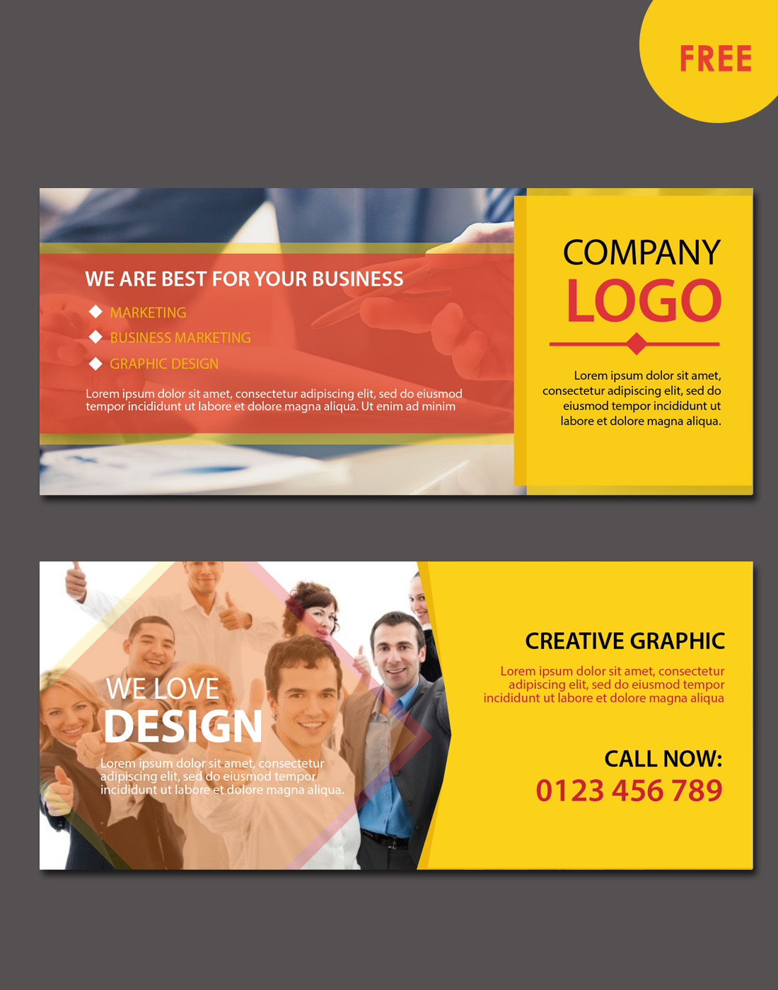 MODERN BUSINESS WEBSITE BANNERS