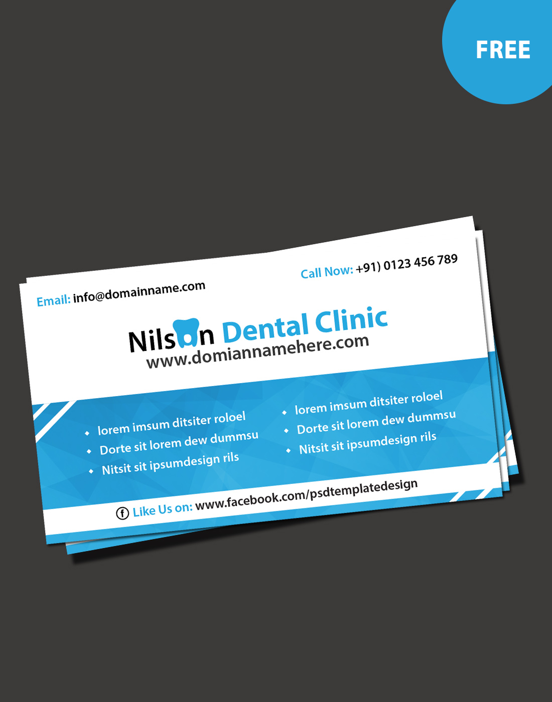 Business card archives free website templates download psd dental business card colourmoves