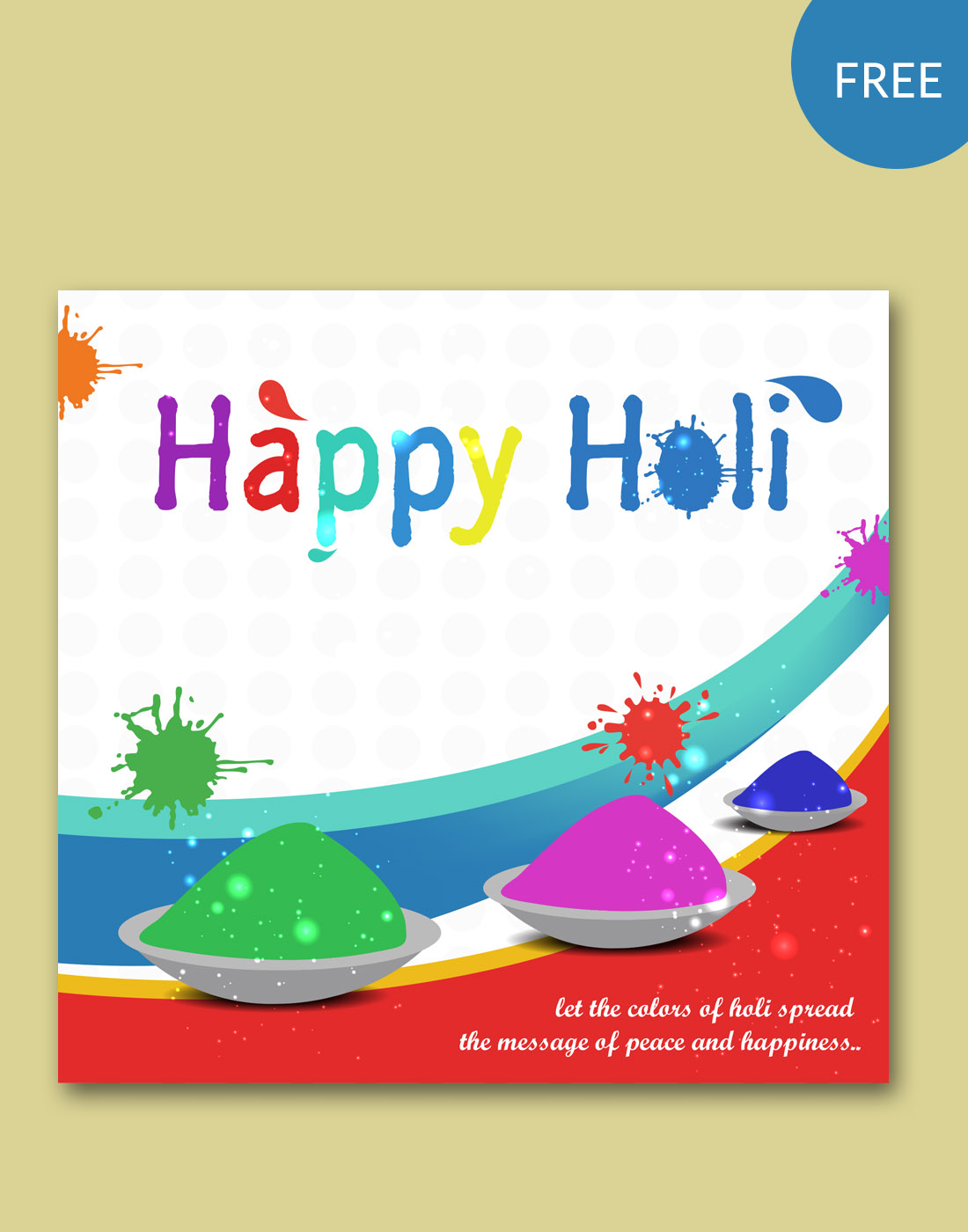 holi vector templates