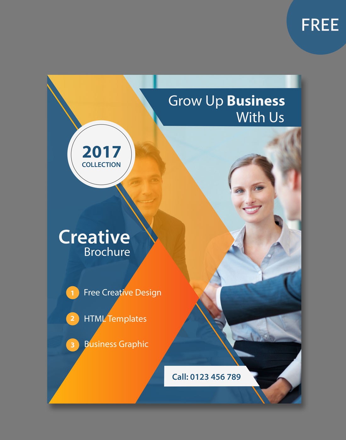 Modern Psd Brochure Templates - Brochure photoshop template