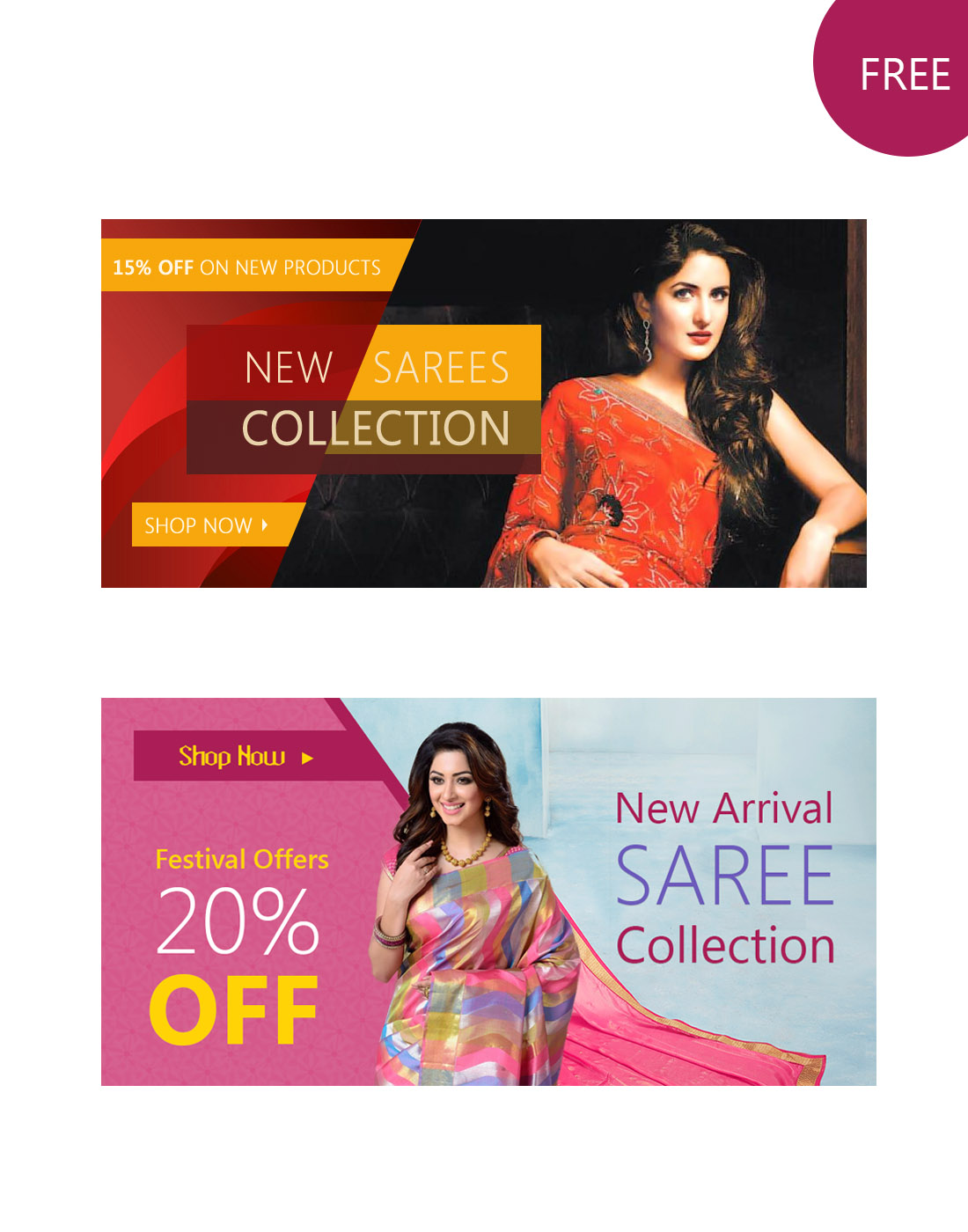 sari website banners psd templates