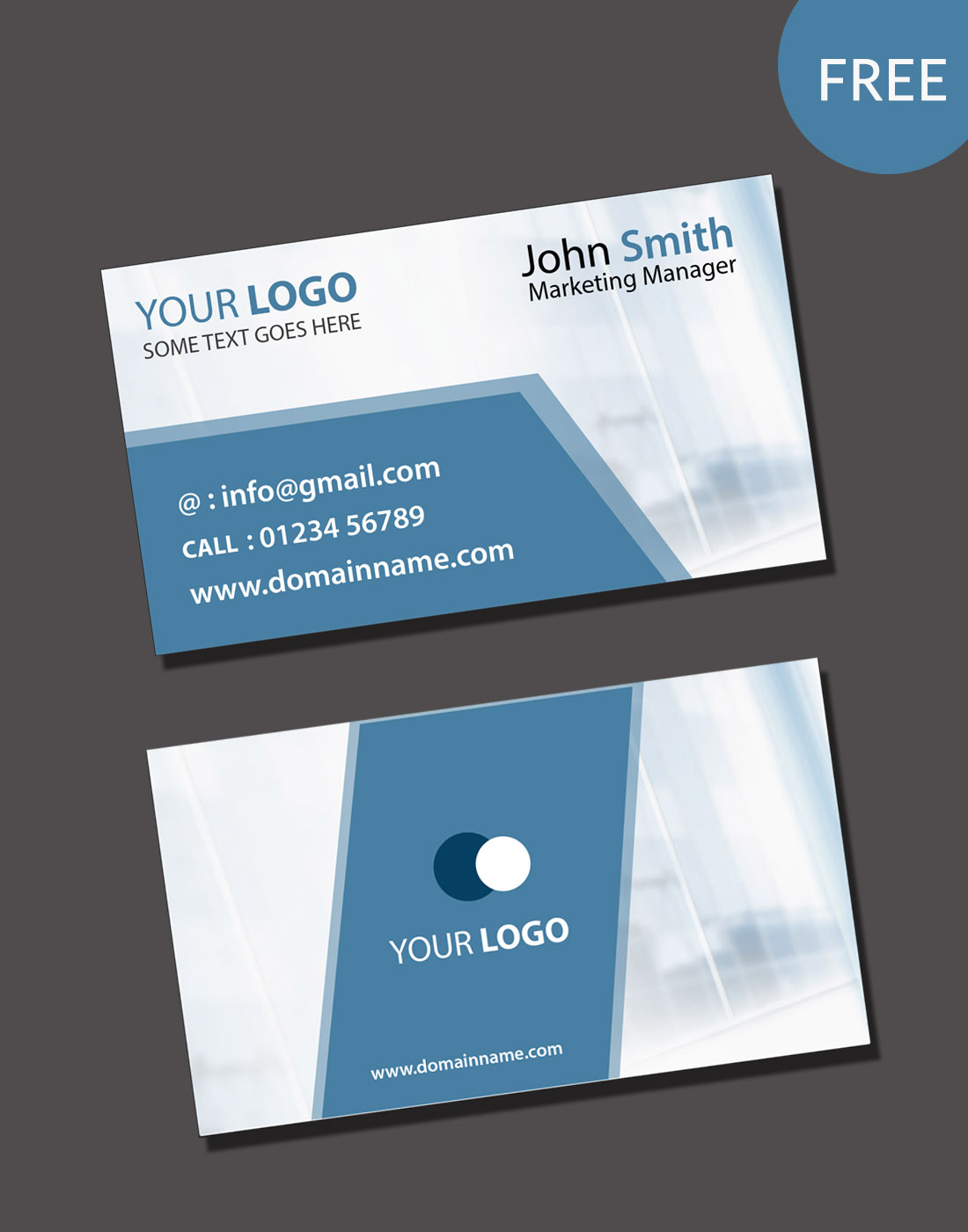 Visiting card psd template free download fbccfo Images