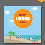 summer holidays templates