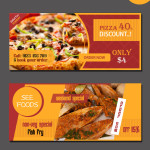 food website vector banners