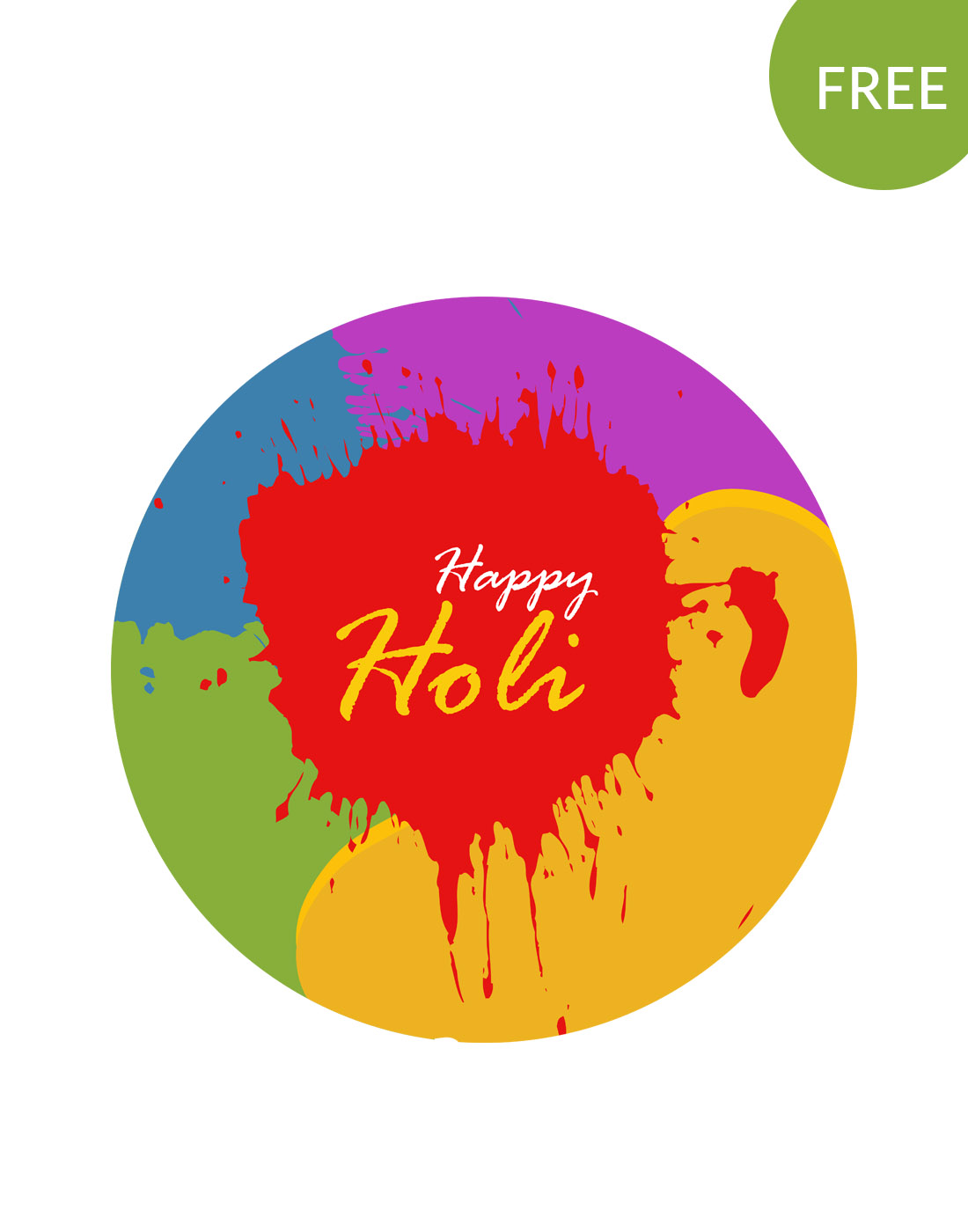 holi vector template