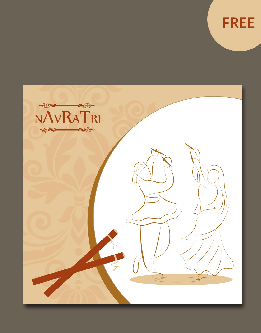 navratri vector template