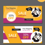 sale website psd banners