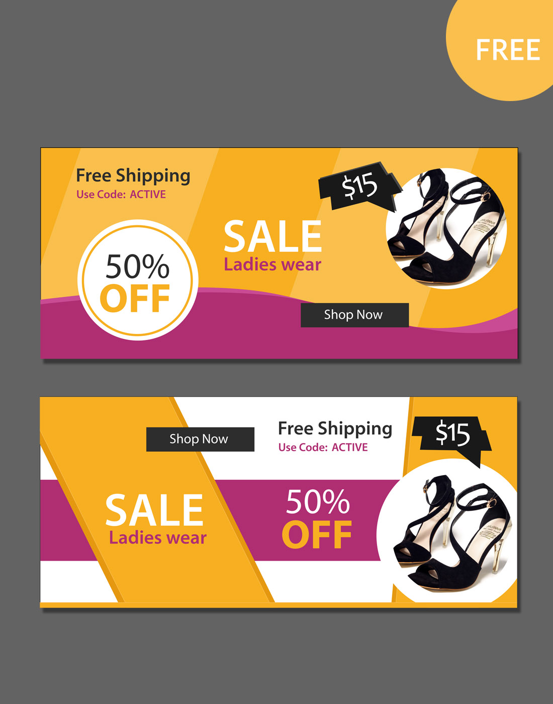 sale psd banners
