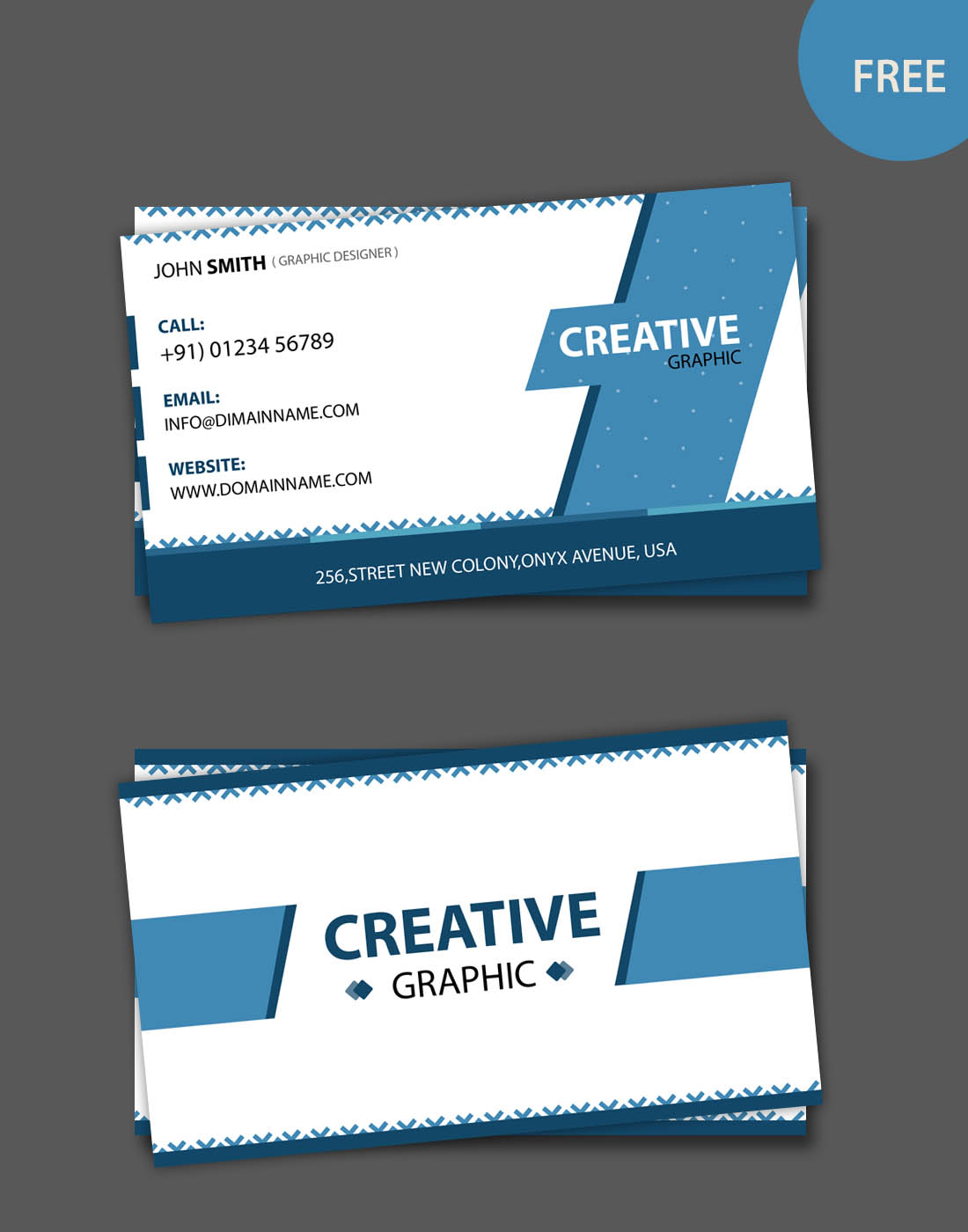 business card modern