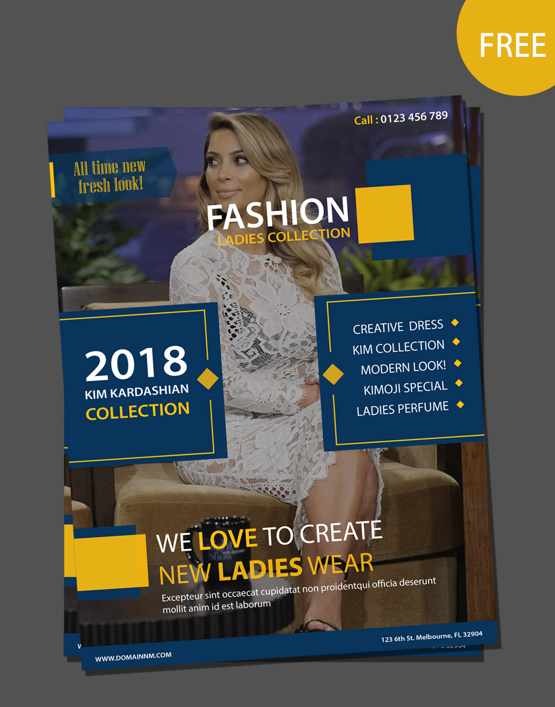 fashion vector brochure