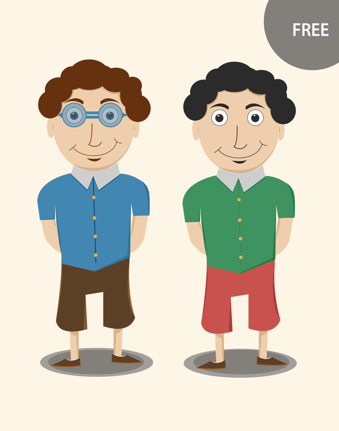 Cartoon Character Design Free Software : Free vector cartoon characters