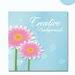 creative vector floral background