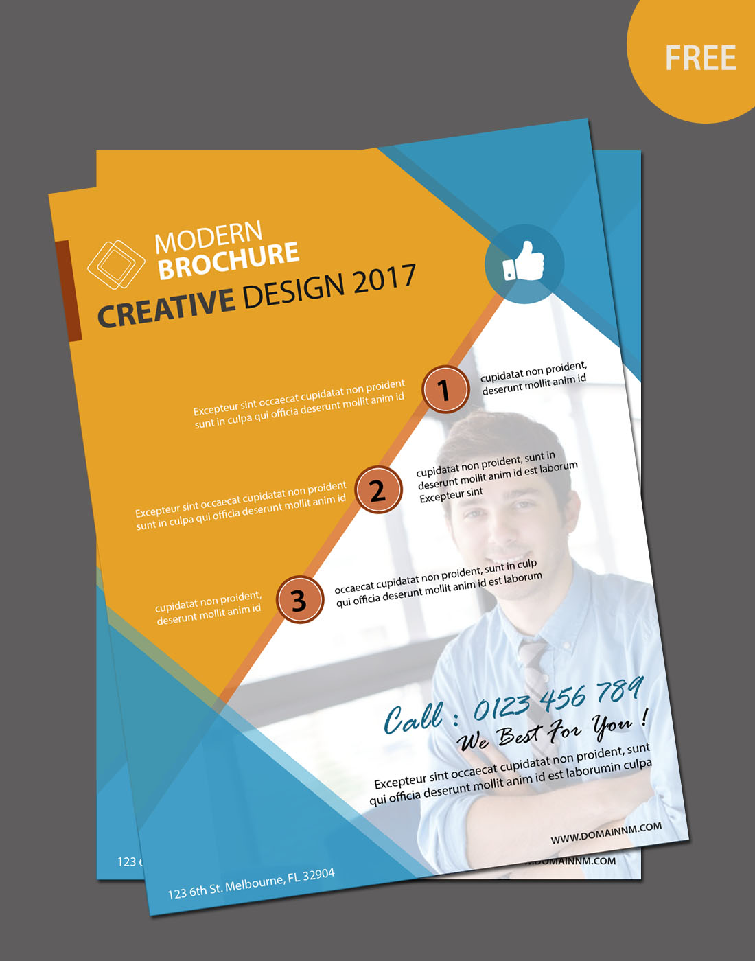 Free editable brochure template for Modern brochure design templates