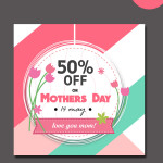 mothers day offer labels template