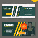 business website modern banners template