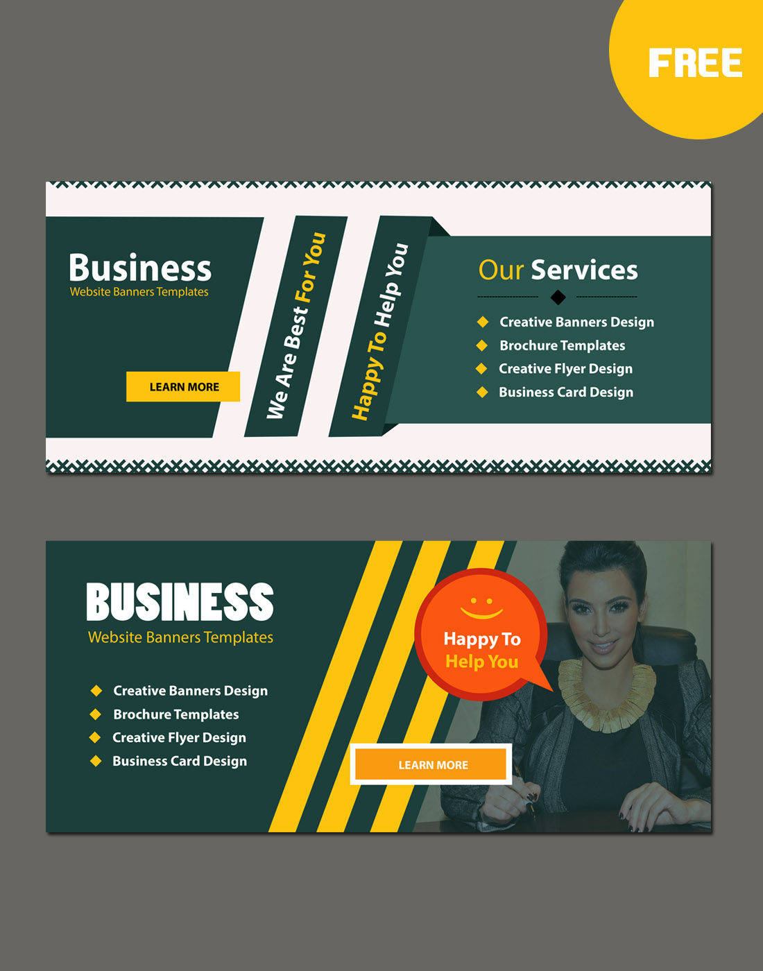 Business website modern banners template wajeb
