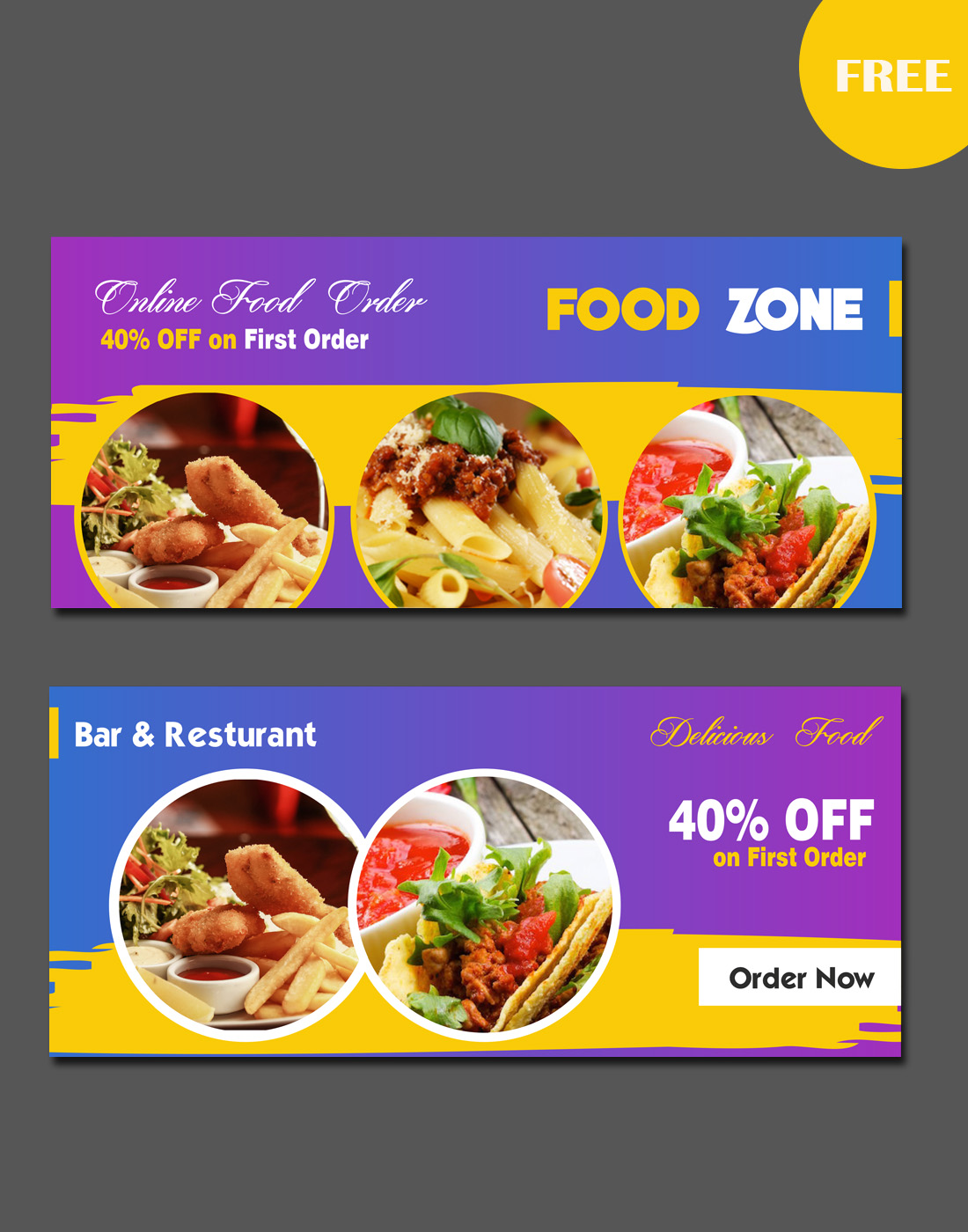 food banners new