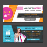 website vector banners