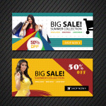 online shopping banners templates