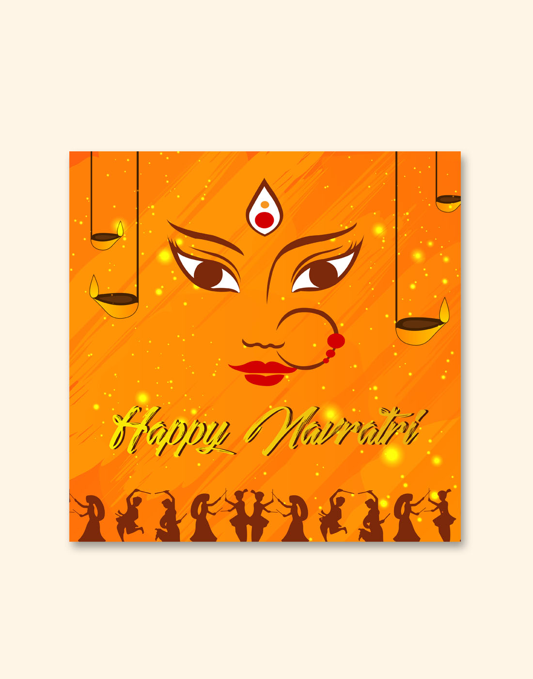 navratri new vector