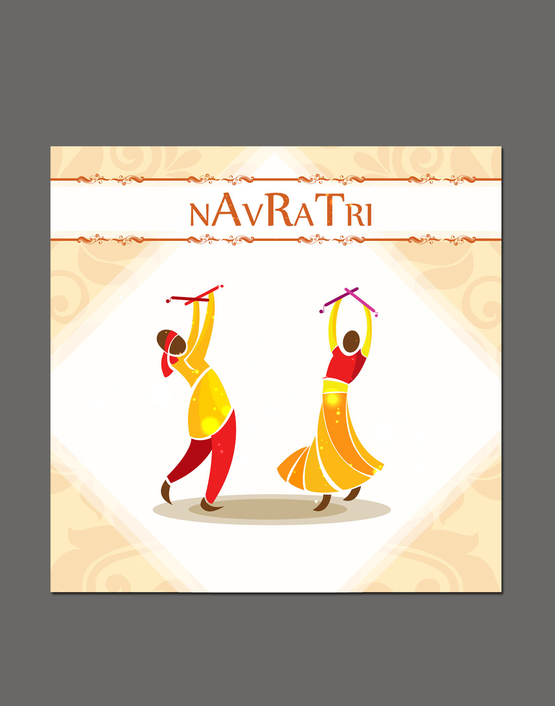 navratri vector templates